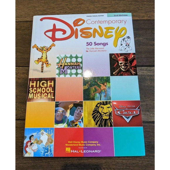 sold - Disney Contemporary 2nd Edition Music Piano/ Vocal/Guitar ~ 50 Songs